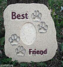 "Plaster concrete Pet Memorial  dog cat plastic mold 10.75"" x 9.5"" x 3/4"" thick"