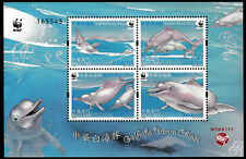 WWF chinois blanc DOLPHINS MINI FEUILLE DE 4 Timbres MNH 2017 MACAU