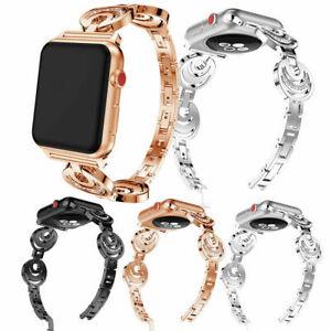 Bling Diamond Metal iWath Band Strap Bracelet For Apple Watch 6 5 4 3 2 1 SE