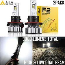 Alla Lighting 9008 LED High Low Beam Headlight Bulb Conversion Kits Short White