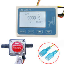 LCD Liquid Digital Fuel Oil Flow Meter w/ 13mm Diesel Gasoline Gear Flow Sensor