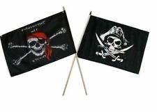 "12x18 12""x18"" Wholesale Combo Pirate Surrender Booty & Deadman's Stick Flag"