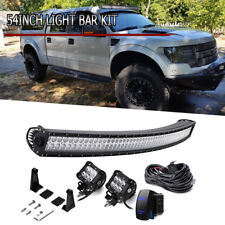 "54"" Curved LED Light Bar+Upper Roof Mount For Ford F250 F150 Super Duty"