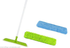 Starfiber Starmop Aquastar Microfiber Mop Kit Green Eco Friendly Cleaning 2 pads