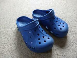 Crocs Clogs Blue lightweight quality soft unisex summer sandals size 3