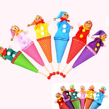 Clown Puppet Toy  Baby Educational Pop Up Telescopic Doll Styles Random vE