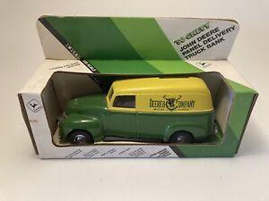 ERTL • John Deere 1950 Chevy Panel Delivery Truck • Die-Cast Coin Bank #5621 NOS