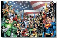Poster Justice League Hero Room Club Art Wall Cloth Print 512