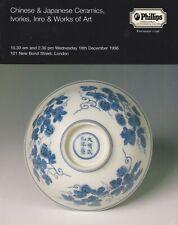 CHINESE & JAPANESE CERAMICS IVORY INRO WORKS OF ART AUCTION CATALOGUE