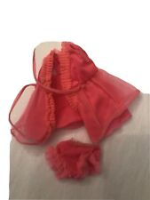 Vintage Barbie clothes 1960's Hot Pink Baby Doll P.J's Ruffle Top And Panties