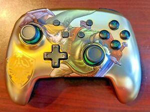 Power A Enhanced Wireless Controller Nintendo Switch Zelda Metallic Gold W Charg
