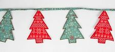 Sass & Belle nórdico Fairisle copos de nieve Guirnalda Banderines de árbol de Navidad Decoración