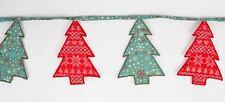 SASS & BELLE NORDIC FAIRISLE SNOWFLAKE CHRISTMAS TREE BUNTING GARLAND DECORATION