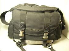 Canon DSLR Camera Bag Black Silver Padded Shoulder EOS 35mm Film