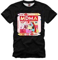 E1SYNDICATE T-SHIRT  MDMA  MADA RED DEFQON RAVE TECHNO ECSTASY XTC XANAX DJ 4987