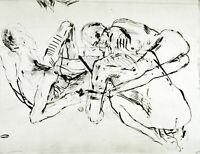 """DDR-Kunst """"Die Möwe"""", 1984. Aquatinta Reinhard MINKEWITZ (*1957) handsigniert"""