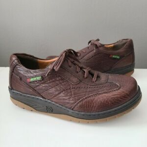 SANO By MEPHISTO Walking Shoes Leather Brown Casual Sneakers Men's Size 9
