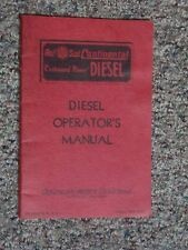 """Red Seal Continental Motors """"Cushioned Power"""" Diesel Operator's Manual 1MX 3132"""