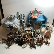 Lot of Star Wars Galactic Heroes Figures & Vehicles + Other Brands Tie Fighter