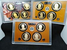 2010,2011 & 2014 Proof Presidential Dollar Sets from U.S proof sets.