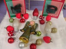 Angel & ornaments for Christmas tree or crafts for making wreath w/ lights