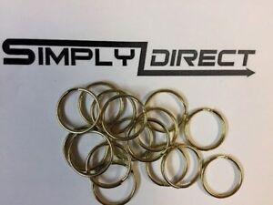 13mm Brass plated Steel Split Rings, Key Rings Uk Seller