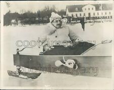 King Christian of Denmark Pilots Ice Sail Boat Press Photo