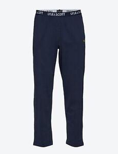 Lyle & Scott Alistair Pyjama Bottoms Trousers Blue Size Large