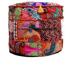 Red Pouf Ottoman Cover Indian pouffe pouffes Foot Stool Moroccan Floor Ottoman
