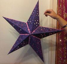 Diwali,Weihnachten & Hochzeit 5 Punkt Stern Lampenschirm Violett Rosa