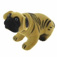 Car Auto Yellow Black Flannel Covered Bobbing Head Nodding Shar Pei Dog