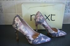 NEW - NEXT pretty ladies grey, pink & white floral shoes - UK 3 - In box