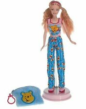 Barbie Loves Winnie the Pooh doll 2004 pajamas key chain for you