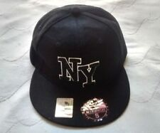 Size Small Fitted Black New York Baseball Cap -AJ Headwear