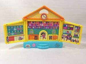Dora The Explorer Interactive Talking Bilingual School House Educational Toy