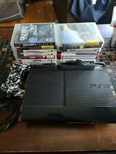 Sony PlayStation 3 PS3 Super Slim 500GB Console w/ 18 games controller