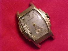 VINTAGE MANS BENRUS DECO STYLE WRISTWATCH - STEPPED CASE