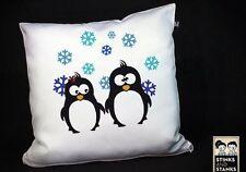 Kissen, Pinguin, Schneeflocken, Winter