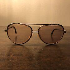 Vintage 1970s Rodenstock silver metal pilot sunglasses mod. Grado 135 15mm