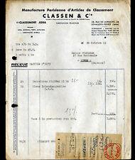 """LEVALLOIS-PERRET (92) USINE de MATERIEL BUREAUTIQUE """"CLASSEN & Cie"""" en 1953"""