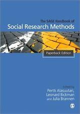 The SAGE Handbook of Social Research Methods by Pertti Alasuutari, Leonard...