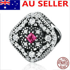 Nice CZ S925 Solid Sterling Silver European Charm bead #11