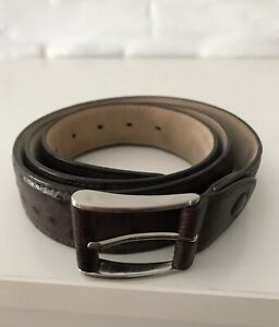 KAROO Men's Belt Genuine Ostrich Leather 42''(107cm)!