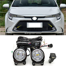 For Toyota Corolla 2020 w/Bulb Switch Cable Bezel Car Bumper Fog Lamp Kit 1SET