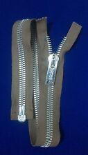 "VTG Jacket Zipper CROWN/COATS CLARK (not Talon) #10 Separating Metal 21"" COTTON"