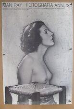Vintage 1981 MAN RAY FOTOGRAFIA ANNI Italian museum/Art exhibition Nude Print