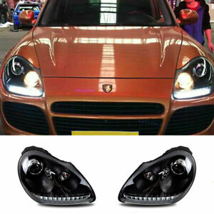 For Porsche Cayenne LED Headlights Projector LED DRL Replace OEM Halogen 03-06