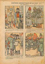 Caricature Politique Forgeron Poilu Députés Socialistes Lenine 1919 ILLUSTRATION