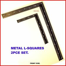 L - SQUARES 2PC SET- STEEL RULERS RAFTER & CARPENTERS SQUARES- BRAND NEW.