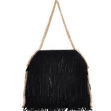 Fashion Leather Fringe Bag w/Chain Strap